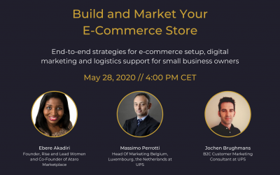 Rise and Lead Women and UPS Benelux Offers A Webinar to Help Small Business Owners to Learn Digital Marketing and E-Commerce Strategies